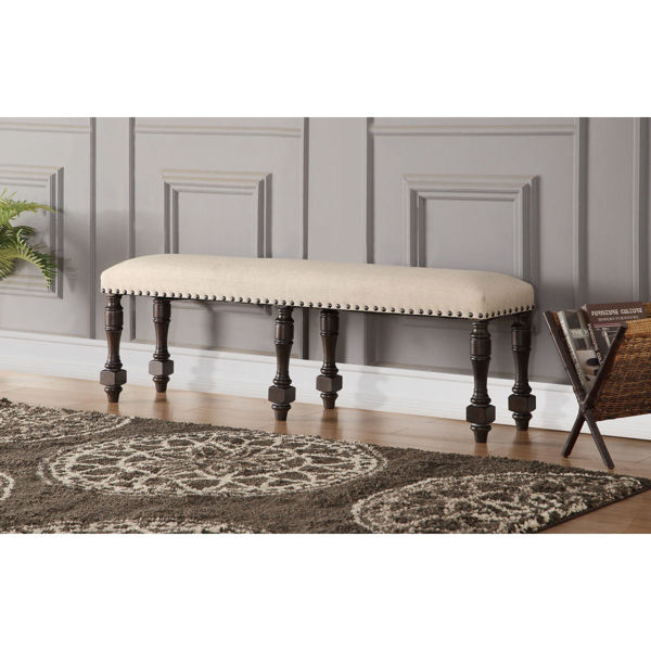 """Picture of Xcalibur Dining Bench - Espresso Finish - 48"""""""