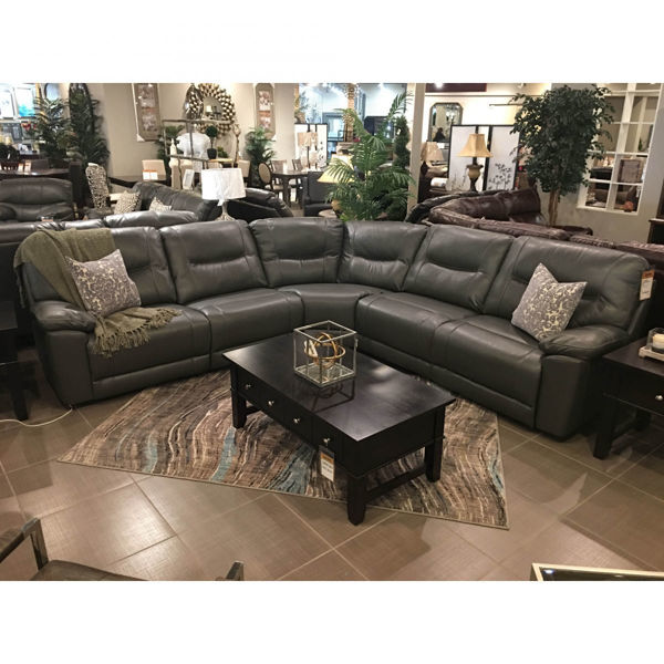 Picture of Reclining Sectional with Power Seats - Leatheraire