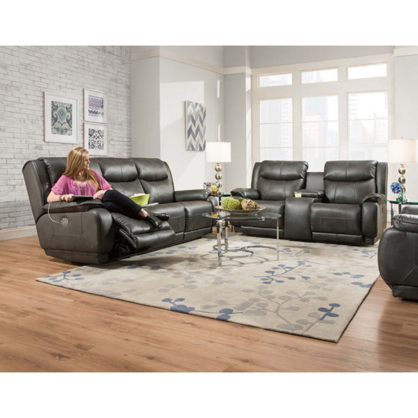 Picture of Velocity Reclining Sofa w/Console