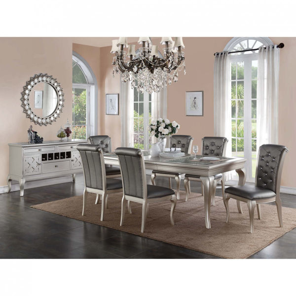 Picture of Antique Silver Rectangular Dining Table
