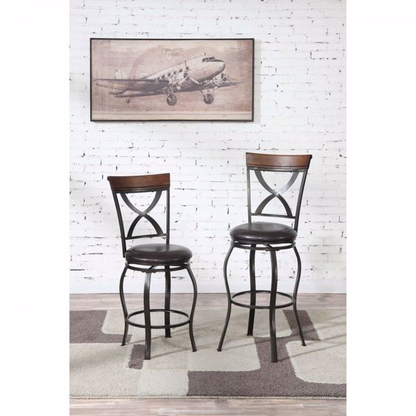 """Picture of 24"""" SWIVEL BAR STOOL"""