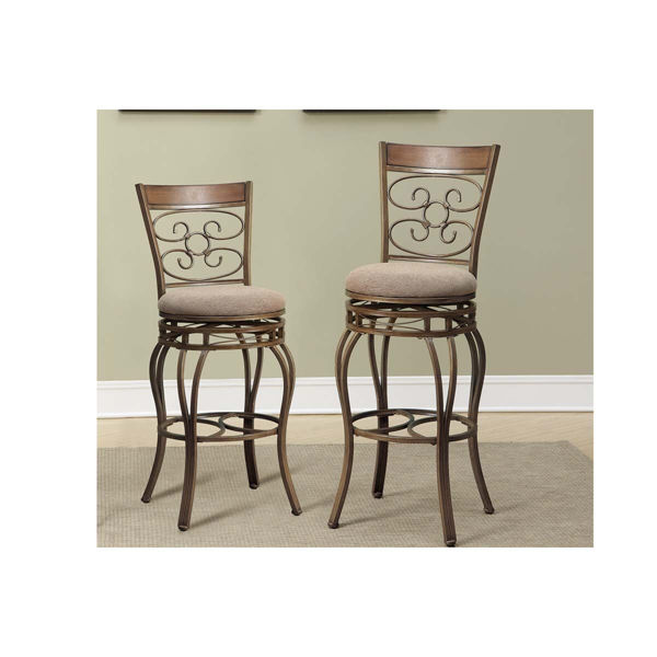 """Picture of Swivel Metal Barstools - 29"""""""