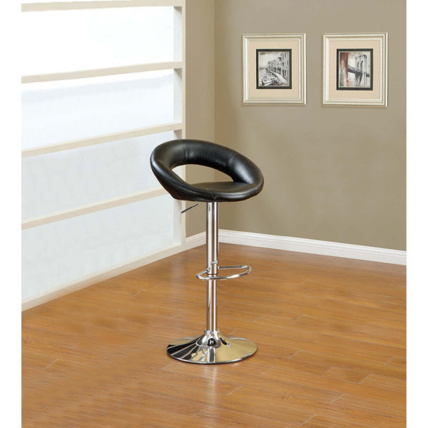 Picture of Black PU Barstool