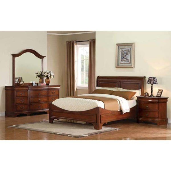 """Picture of 30"""" 3-Drawer Oval Night Stand"""