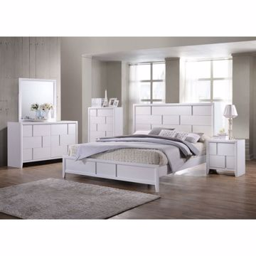 Picture of WHITE QUEEN BED