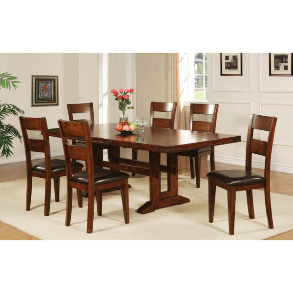 """Picture of Mango 92"""" Dining Trestle Table"""