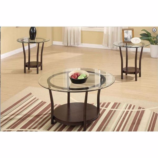 Picture of 3 PC GLASS COFFEE TABLE SET