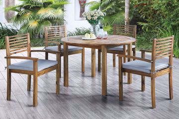 Picture of 5 Pc Acacia Outdoor Dining Set