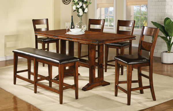 Picture of MANGO TALL TRESTLE TABLE