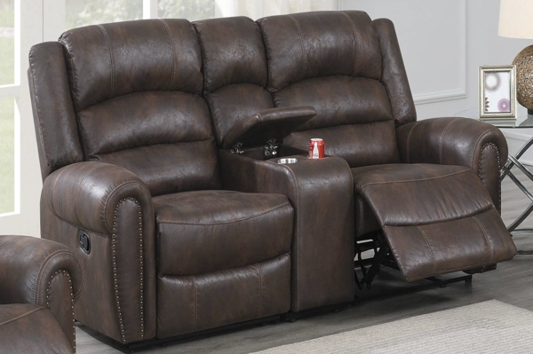 Picture of Loveseat with Console, LAF Recliner, Console, RAF Recliner